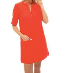 EMERSON FRY Mod Dress Warm Red Poppy Linen Weston